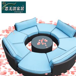Ngoài trời sofa vải vòng sofa kết hợp bar vườn sân tất cả các sản phẩm nho chấp nhận kỹ thuật đơn đặt hàng