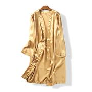35076 mùa xuân và mùa hè phụ nữ mới của Hàn Quốc phiên bản của áo ngủ sexy thời trang thoải mái phần dài mô phỏng lụa dịch vụ nhà May 18