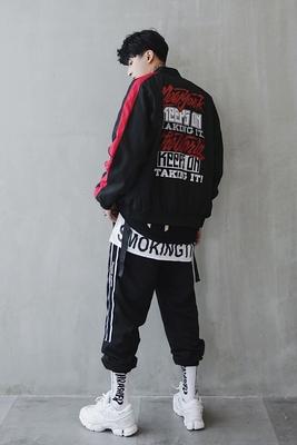 Áo khoác nam 2018 mới của Hàn Quốc phiên bản của xu hướng của sinh viên đẹp trai hip hop áo khoác cộng với phân bón chất béo XL đồng phục bóng chày