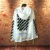 OWFOFF-TRẮNG mặt trời quần áo bảo hộ áo khoác tắt thư splash mực graffiti quần áo chống nắng áo khoác nam giới và phụ nữ áo gió Áo gió