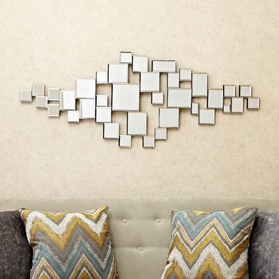 欧式时尚创意壁饰墙饰菱形立体样板间装饰镜玄