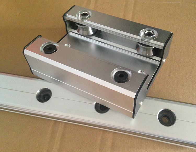 外置双轴芯/心 高速 滚轮 直线导轨 滑台滑座LGD16