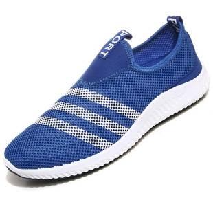 新款男士透气网面鞋休闲鞋老北京