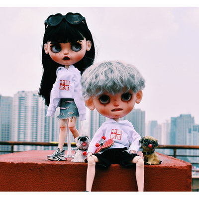 taobao agent bjd/blythe/ht/3atoys fashion doll sweater Chinese boy/Chinese girl