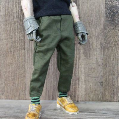taobao agent Four points six points bjd/12 inch trend soldier/threaded pocket casual pants overalls cannot be used by humans