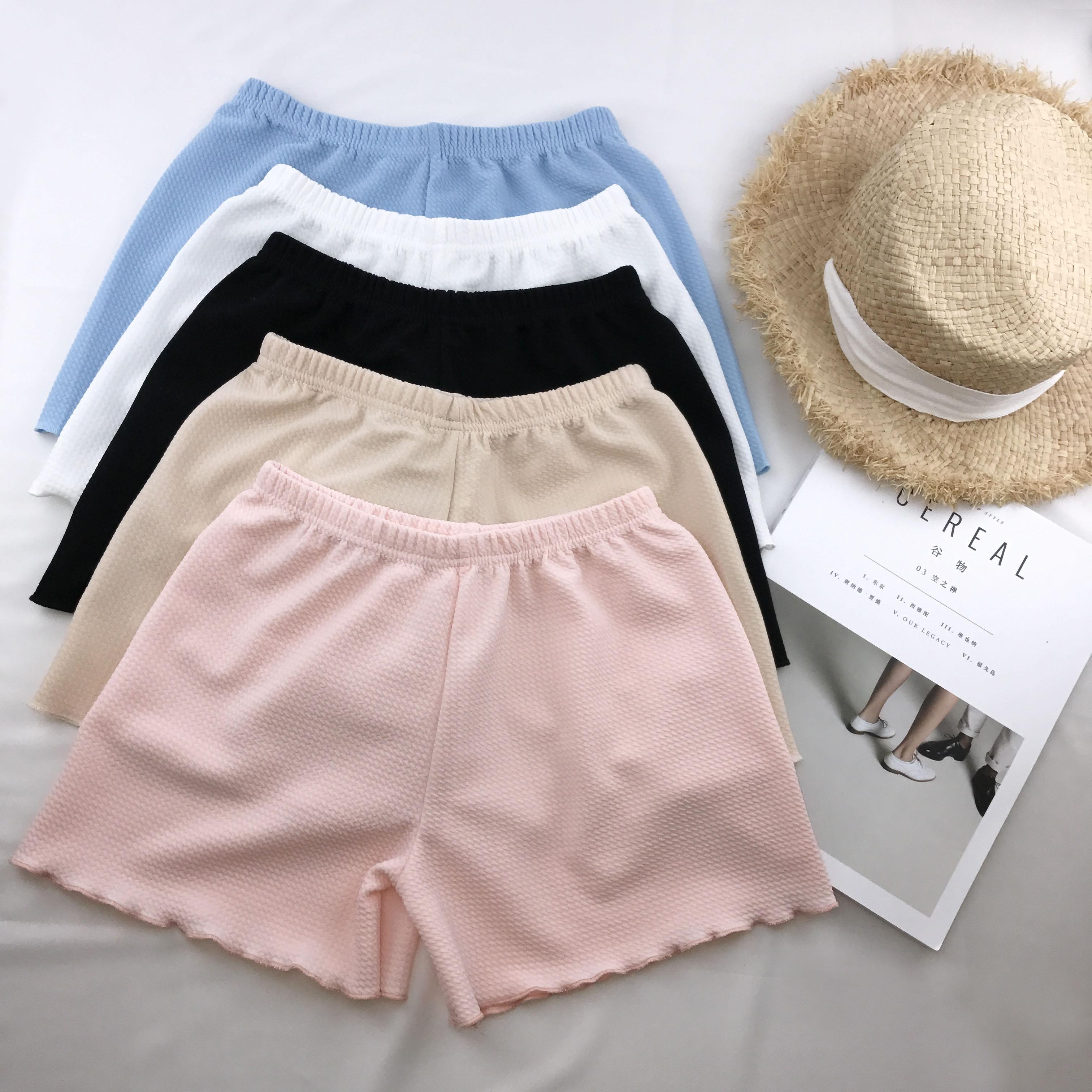 海岛度假内搭沙滩短裤宽松薄款花边防走光安全裤保险裤打底裤