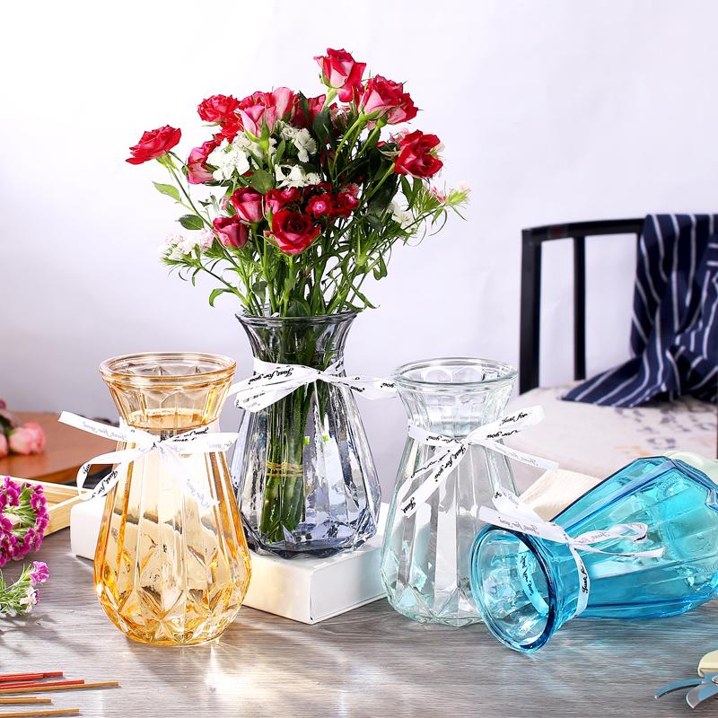 【2個套裝】歐式透明干花插花花瓶