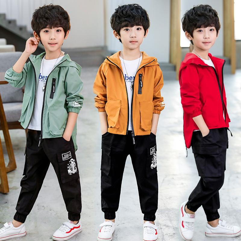 童装男童秋装套装2018新款韩版儿童春秋洋气大童