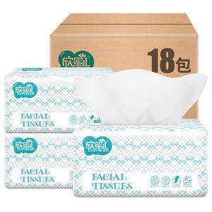 欣蜜儿420张*18大包抽纸整箱大号纸巾卫生纸家庭面巾纸家用餐巾纸