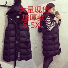 马甲女秋冬新款韩版女修身显瘦中长款羽绒棉马夹棉衣棉服外套