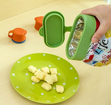 百屋封口夹零食夹食物夹子出料嘴套装塑料袋夹食品保鲜夹子密封夹