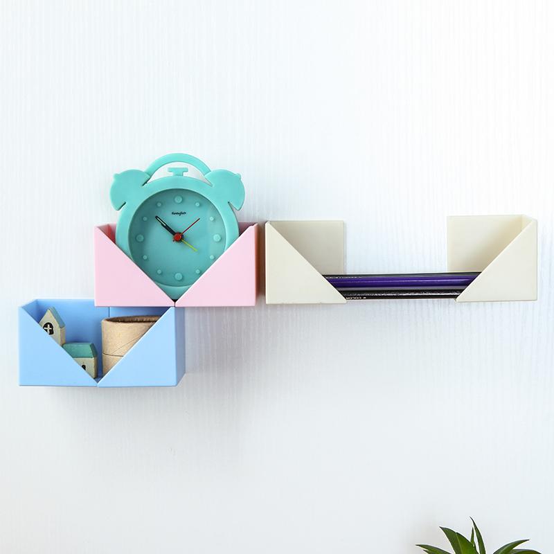 百屋自由组合粘贴置物架简易壁挂式收纳盒塑料厨房浴室收纳整理架