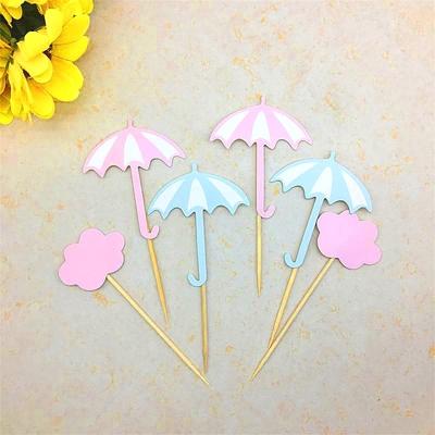 云朵小雨伞蛋糕插件创意派对蛋糕装饰烘焙装扮