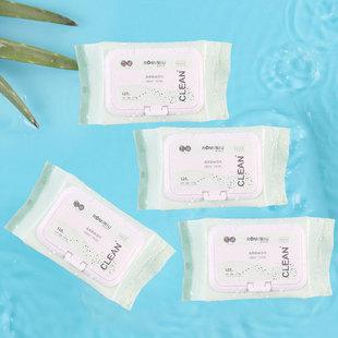 【4包装】芦荟卸妆湿巾深层清洁一次性便携带温和不刺激卸妆巾
