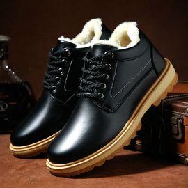 男士冬季棉鞋休闲皮鞋防水工作鞋爸爸鞋
