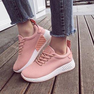新款百搭运动女鞋韩版平底鞋休闲鞋小白鞋子