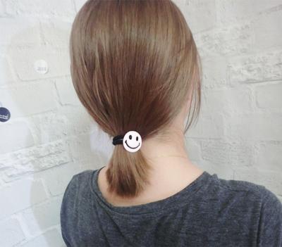 日韩甜美可爱马卡龙滴油拉丝卡通金属笑脸发绳 发圈女亲子发饰