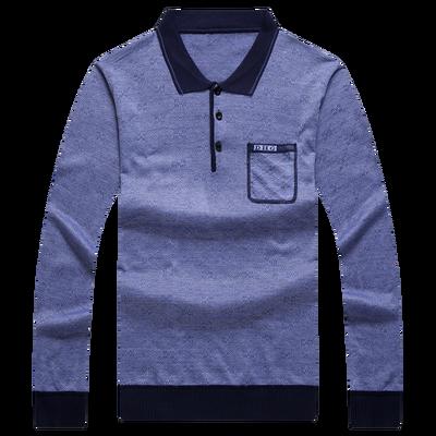 Ông già quần áo nam mùa hè ăn mặc 60-70-80 tuổi ông già mùa hè siêu mỏng băng lỏng lụa ông nội dài tay T-Shirt ao thun nam Áo phông dài