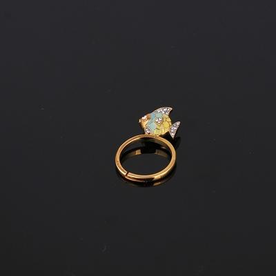 特价美国时尚清新小鸟/贝壳/花朵/小鱼/菠萝多款式可调节戒指女生