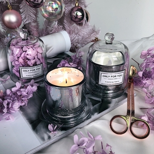 金钟罩无烟玻璃杯大豆蜡香薰蜡烛