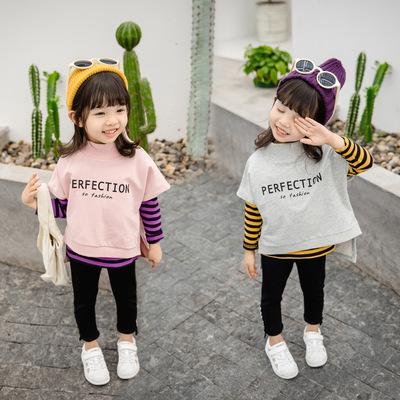 新款春秋季女童秋装小孩幼儿1长袖2打底衫运动裤三件套装4岁半3潮