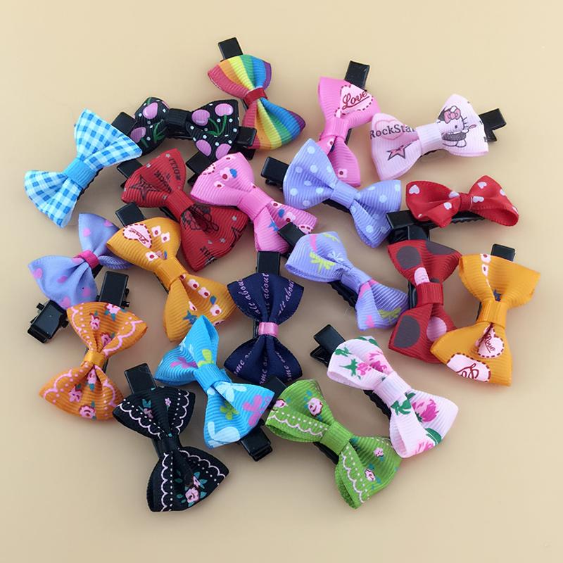 天天特价20只韩版儿童发饰女童边夹小女孩发卡蝴蝶结发夹头花