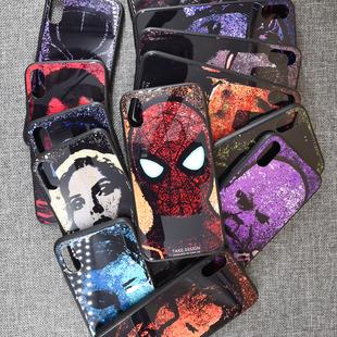 漫威复仇者联盟钢化玻璃手机壳全包保护套