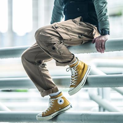 DSPLAY第六代ins工装裤男潮牌多袋裤夏 余文乐裤子男直筒休闲长裤