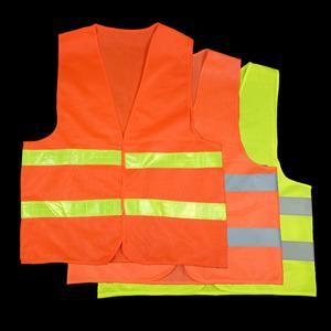 Dệt kim vải phản quang vest có thể được in cam phản quang vest trang web huỳnh quang quần áo vệ sinh phản chiếu vest