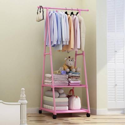 简易衣帽架落地挂衣架创意衣服架卧室置物架门厅收纳铁艺衣架移动