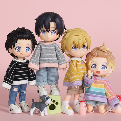 taobao agent Ob11 baby clothes striped sweater Molly doll clothes GSC body 8 points 12 points bjd sister head Yuan Na