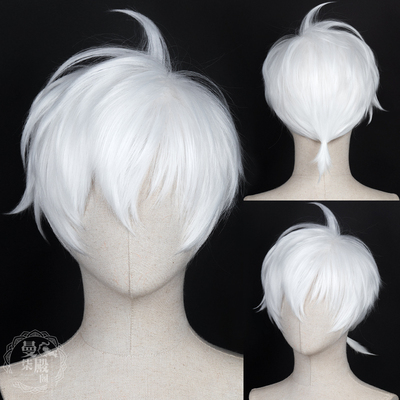 taobao agent Immortal You COS Immortal COS Wig Pure White Short Hair Self-tie little ponytail