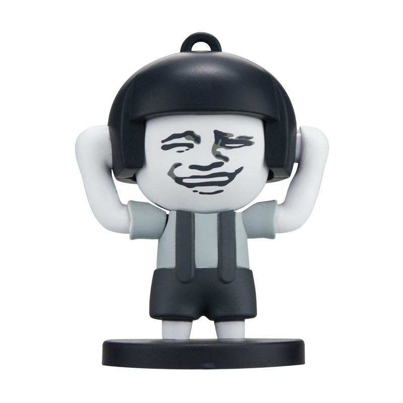 抖音同款玩具:蘑菇头变脸钥匙扣-1