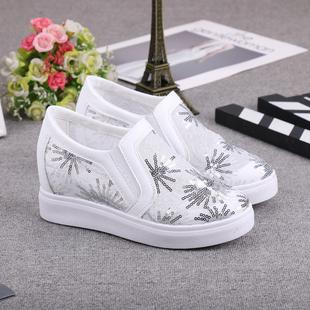夏季网红内增高女鞋小白鞋