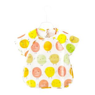 夏季儿童罩衣男女童小孩薄款喂饭反穿衣饭兜