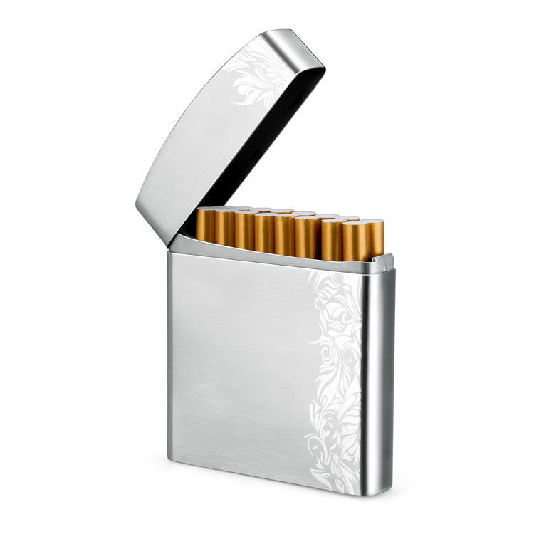 купить металлический портсигар на 20 сигарет
