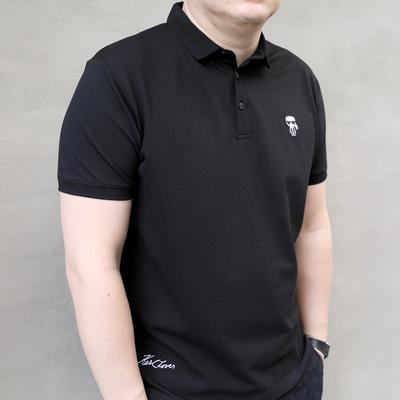 Mùa hè mới phim hoạt hình nhân vật phản diện kích thước lớn nam triều chất béo cộng với chất béo cộng với nam ngắn tay áo POLO ve áo T-Shirt áo polo tay dài Polo
