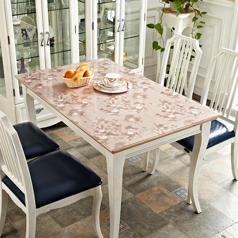 软玻璃PVC防水防烫防油免洗塑料桌布圆餐桌垫透明茶几胶垫水晶板