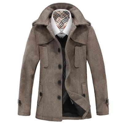 Mới mùa thu và mùa đông áo len nam áo len nam áo khoác mùa đông nam thanh niên nâu coat nam Áo len