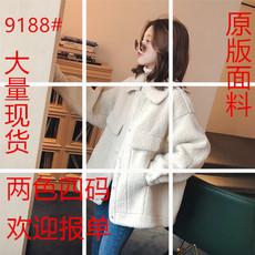 【10.22新品 8折起包邮】翻领羊羔毛毛绒加厚单排扣外套