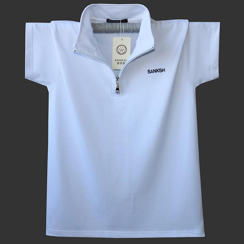Kích thước lớn nam ve áo ngắn tay nửa dây kéo nam T-Shirt cotton cộng với phân bón để tăng thể thao T-Shirt nam mồ hôi tuyết tùng t máu