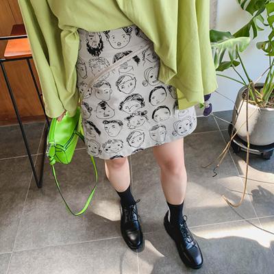 晶咕家短裙女半身裙高腰a字裙新款裙子泫雅风包臀裙秋季半裙