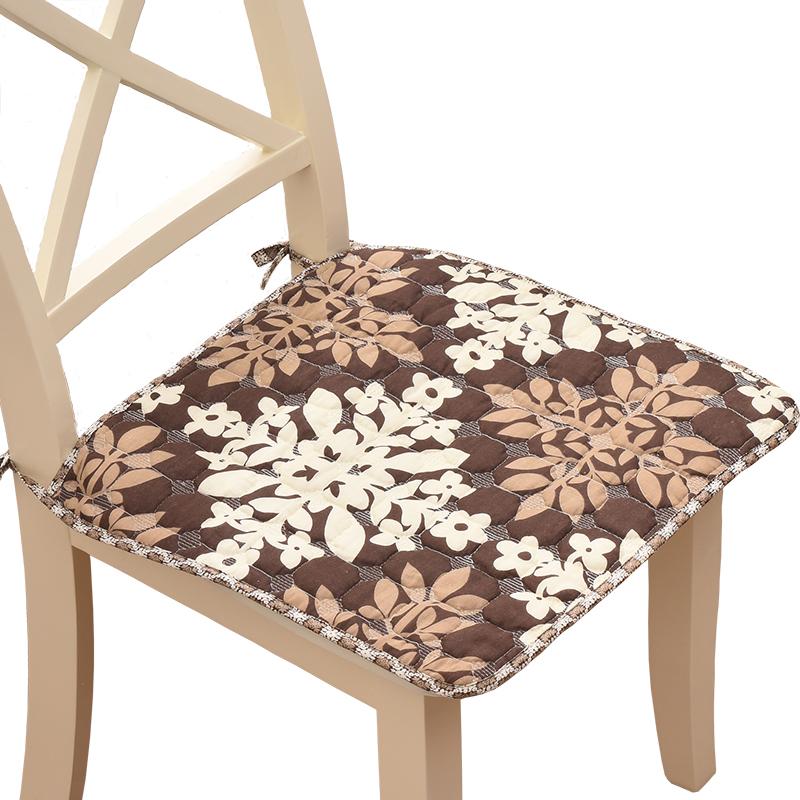 夏季布艺小坐垫方椅垫冰丝凉席学生椅子垫办公纯棉椅垫四季餐椅垫