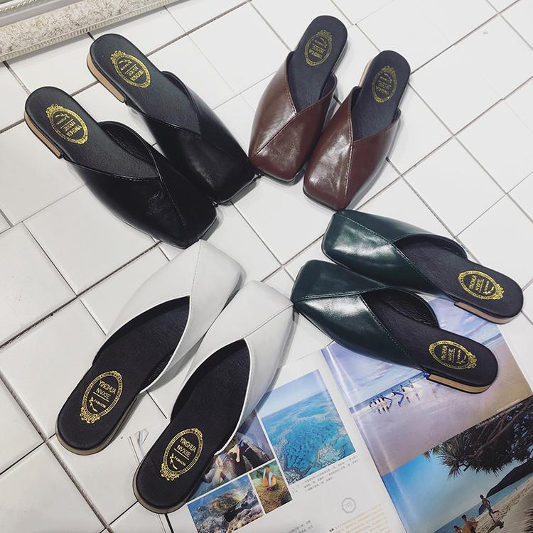 夏季方头复古奶奶鞋包头凉拖鞋-优惠价50元销量128件