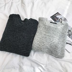 冬季潮款 加厚保暖色织毛衣 潮款百搭男毛衣 打底厚毛线衫D89P55
