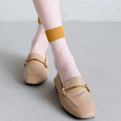 袜子女中筒袜波点玻璃袜玻璃丝袜日系水晶丝透明薄款夏季圆点