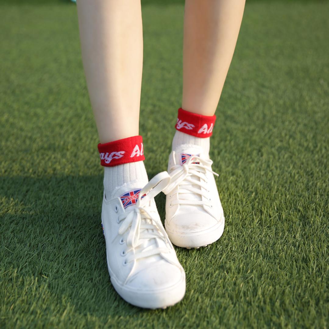 Vớ nữ trong vớ cotton hoang dã Phiên bản Hàn Quốc của vớ bóng chày ulzzang thủy triều mùa hè mỏng phần thể thao mùa hè - Vớ hàng tuần