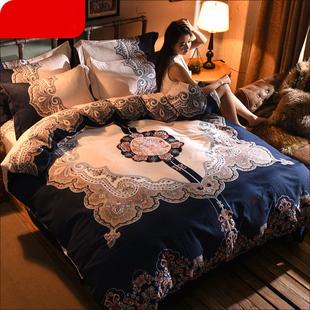 网红ins斜纹加厚四件套大版床单被套双人学生宿舍床上用品