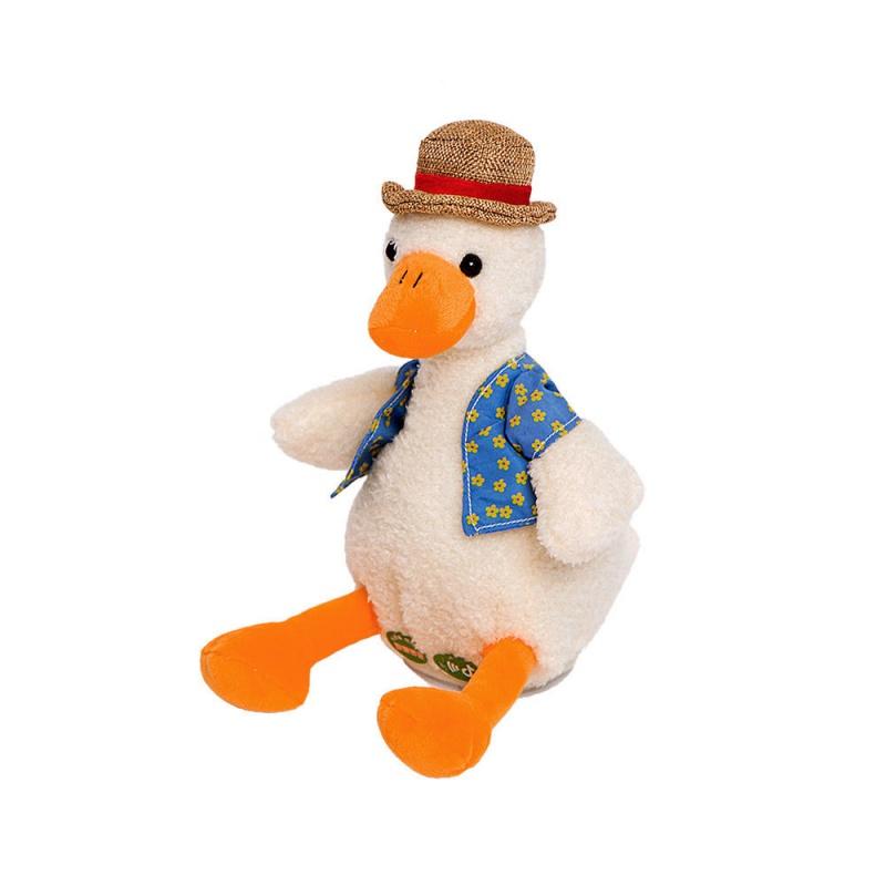 音同款复读鸭玩偶娃娃加油沙雕鸭录音公仔毛绒玩具学舌唱歌跳舞7