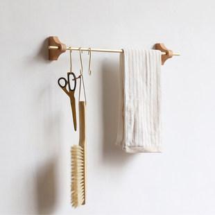 Латунь висячие стержени нордический ins орех деревянный базы декоративный стена верх настенный стоять подключить кухня одиночный заказать